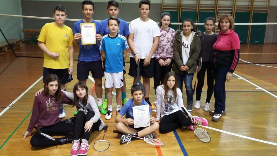 Občinsko ekipno tekmovanje v badmintonu