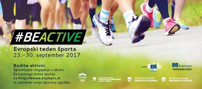 EVROPSKI TEDEN ŠPORTA (ETŠ): 23.-30. SEPTEMBER 2017