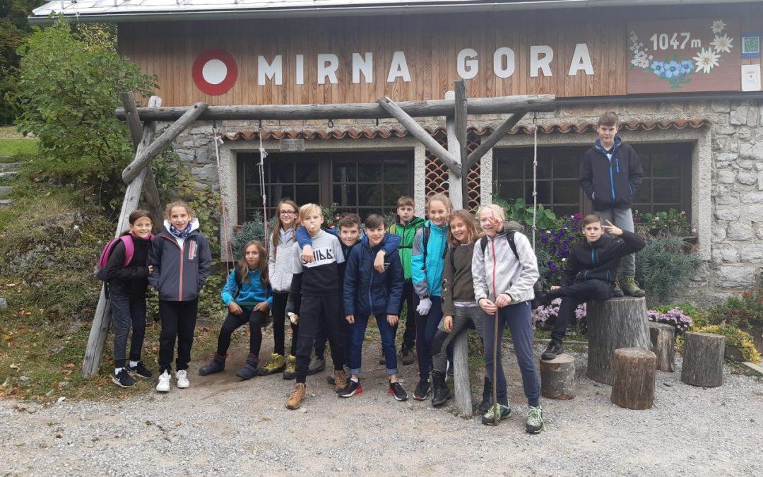 Planinska šola na Mirni gori 6. c