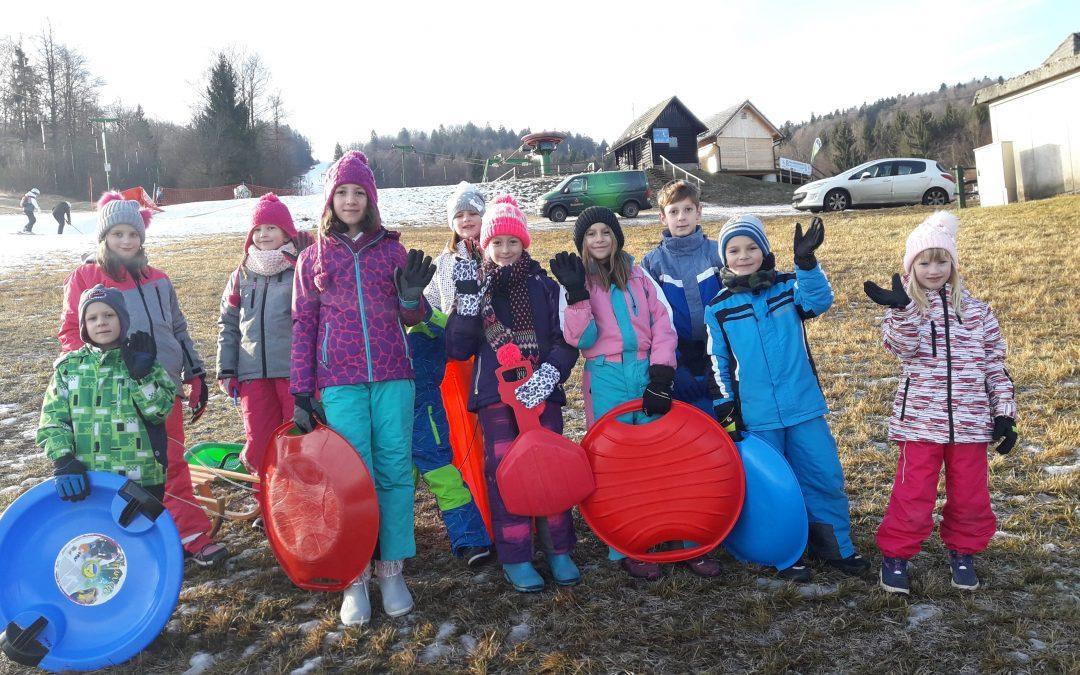 Zimski športni dan na PŠ Griblje
