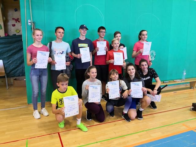 Naši učenci zelo uspešni na občinskem tekmovanju v badmintonu